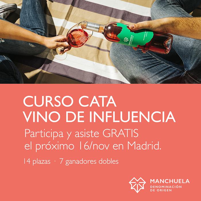 Concurso Instagram: Ven gratis al Curso de Cata de #vinodeinfluecia