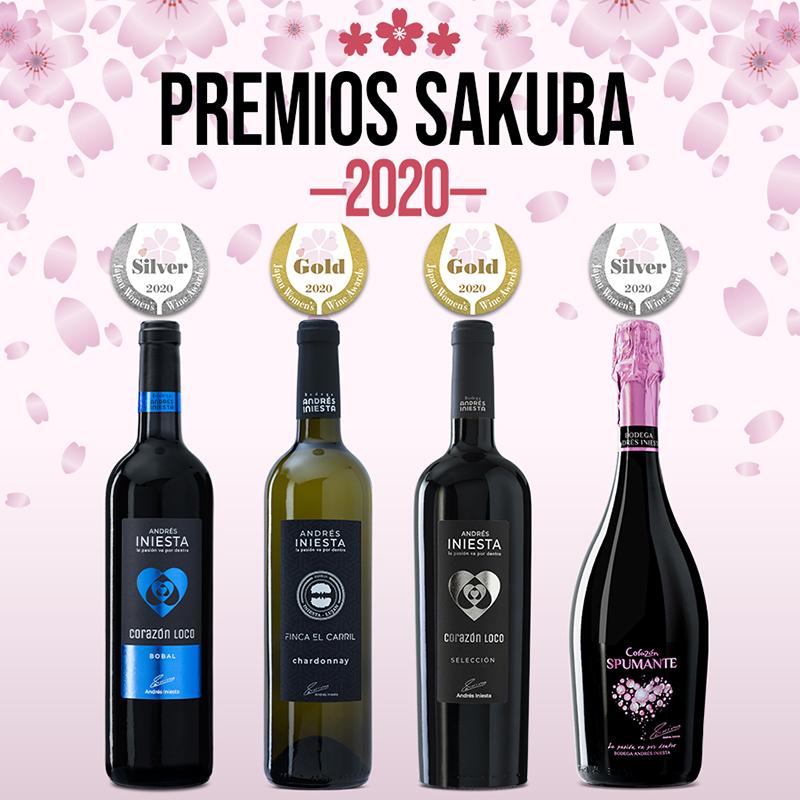 5 medallas para nuestro vino en Sakura Japan Women's Wine Awards 2020