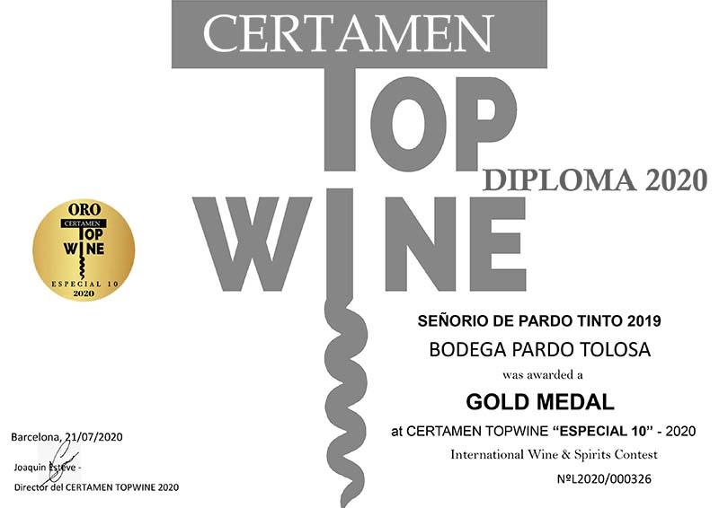 3 medallas para Bodega Pardo Tolosa en los Premios Topwine 2020