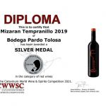 Medalla para Pardo Tolosa en el Catavinum World Wine & Spirits Competition 2021
