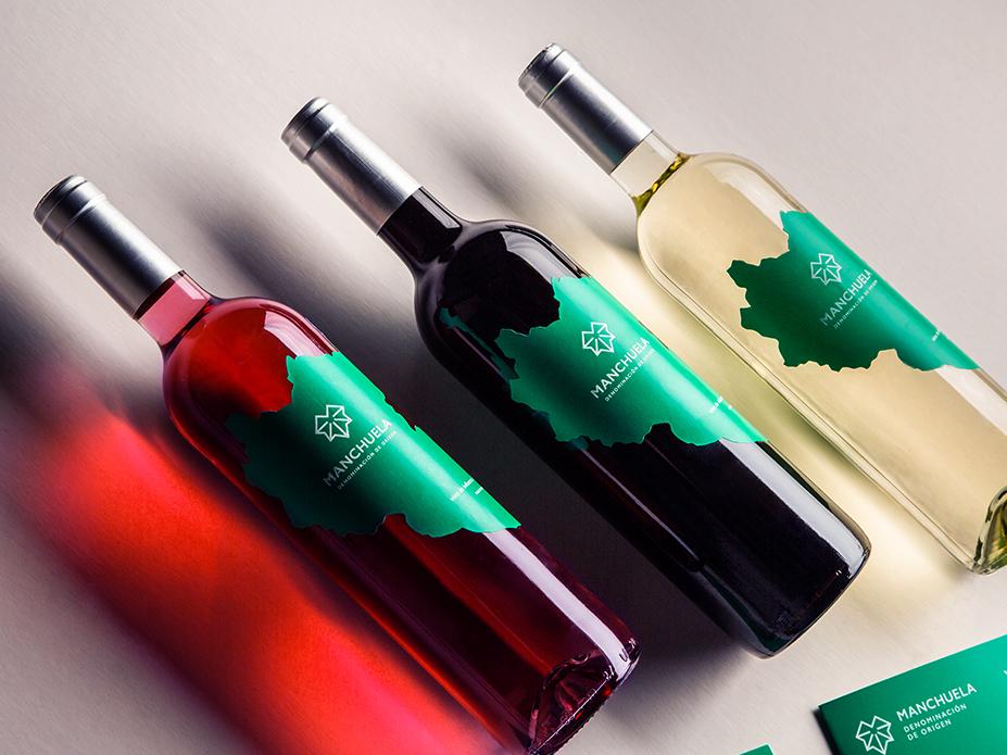 Botellas de vino de la D.O. Manchuela